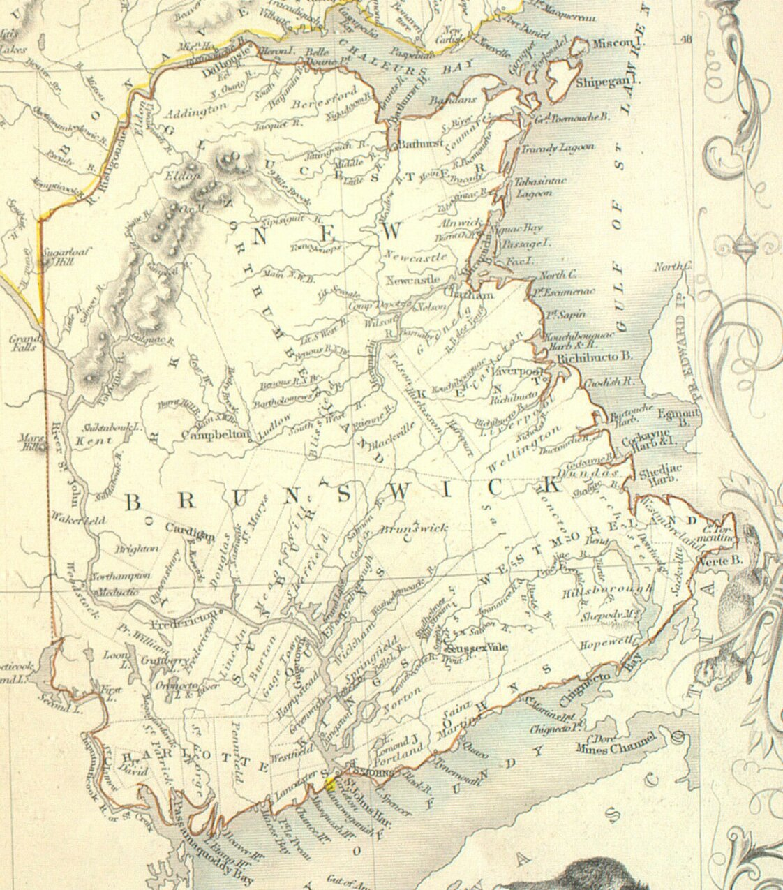 Historical Maps of New Brunswick